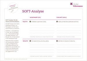 """Worksheet """"SOFT-Analyse"""" für die interne Kommunikation nutzen"""
